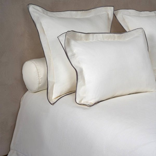 boho pillow shams warm white