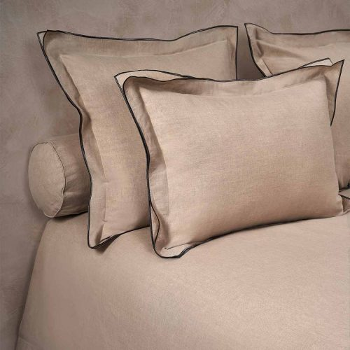 boho pillow shams natural