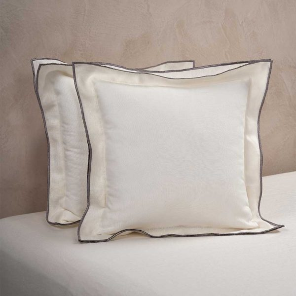 boho cushion cover warm white
