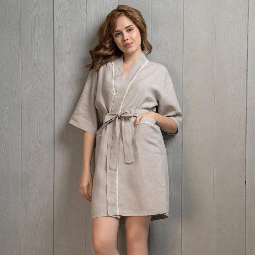 natural linen kimono