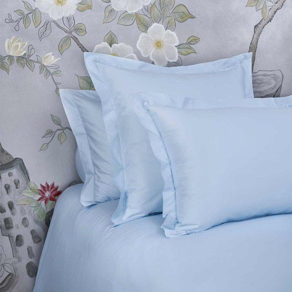 Bella pillow shams aqua