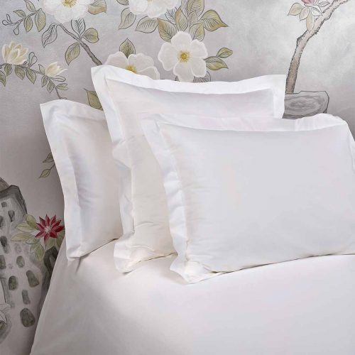 bella pillow shams white