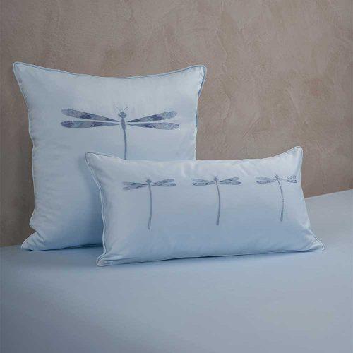 dragonfly cushion cover aqua