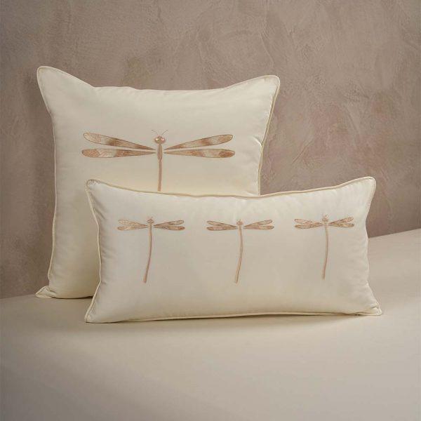 dragonfly cushion cover lemonade