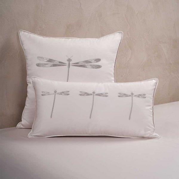 dragonfly cushion cover moonlight