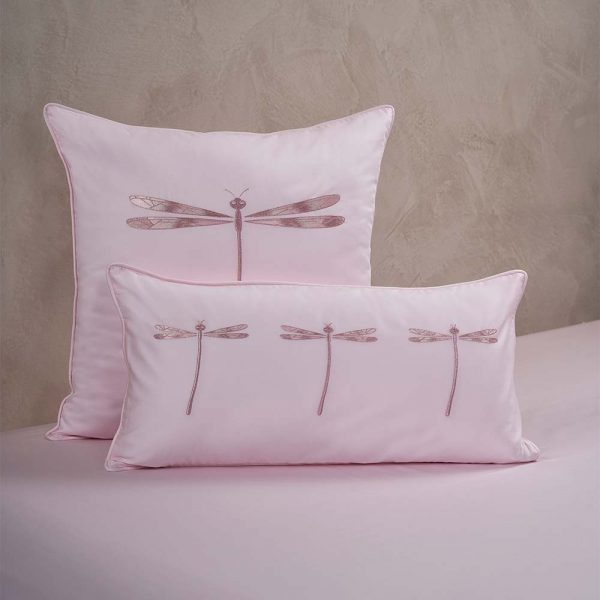 dragonfly cushion cover paradise pink