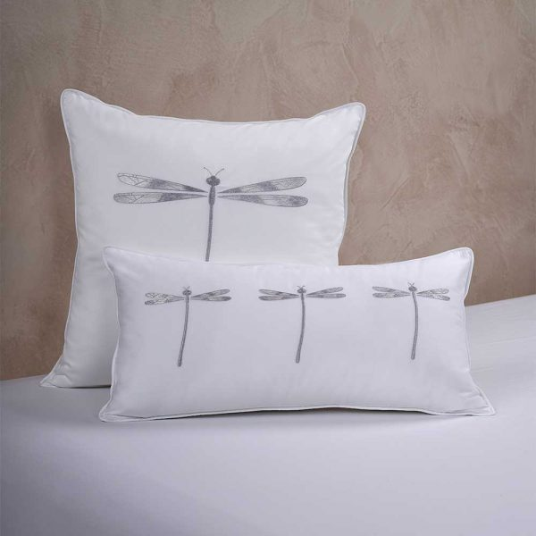 dragonfly cushion cover white