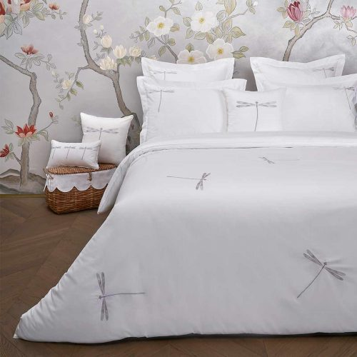 dragonfly duvet cover white