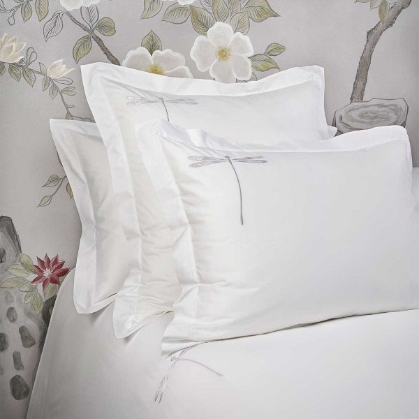 dragonfly pillow shams white