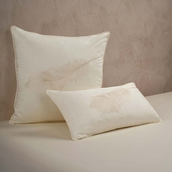 feather cushion cover lemonade