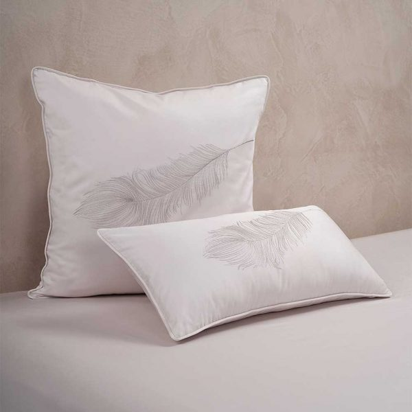 fether cushion cover moonlight
