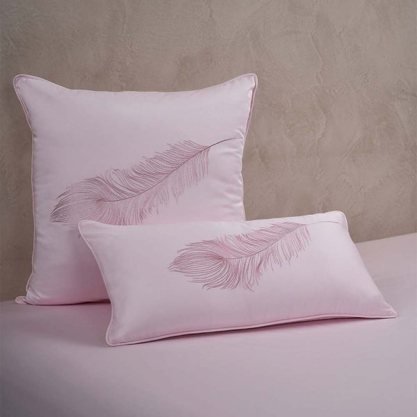 feather cushion cover paradise pink