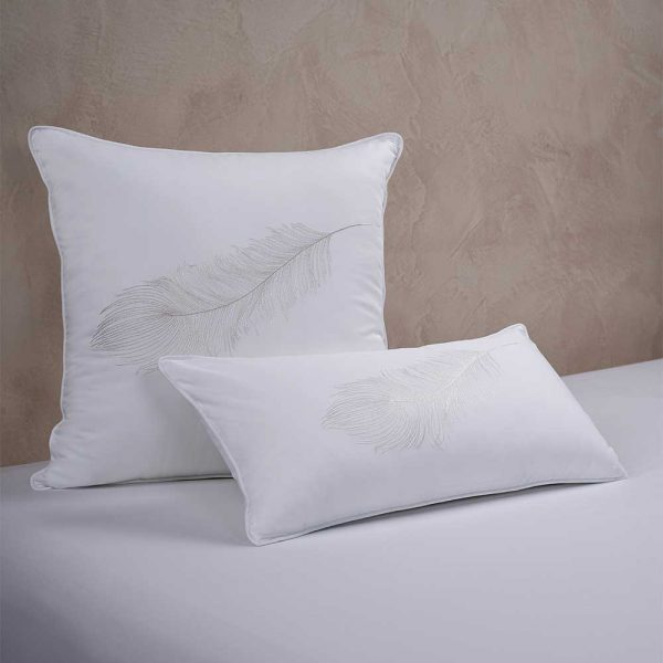 feather cushion cover white