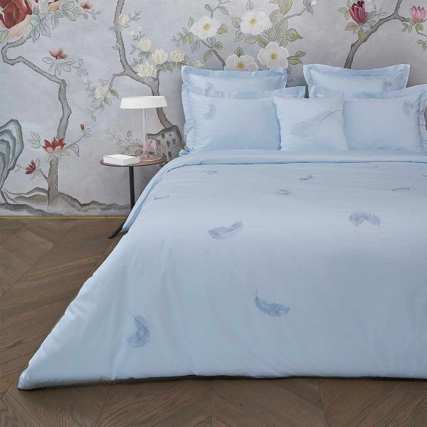 feather duvet cover aqua