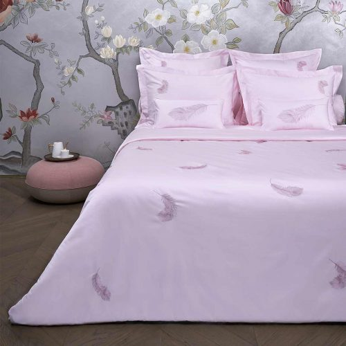 feather duvet cover paradise pink
