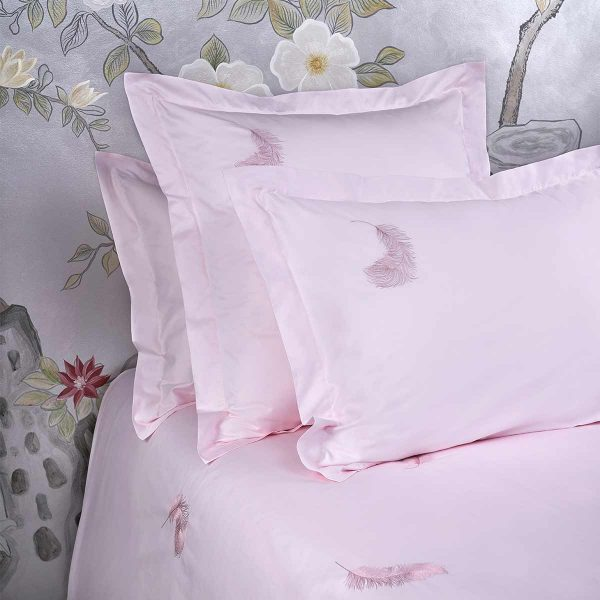 feather pillow sham paradise pink