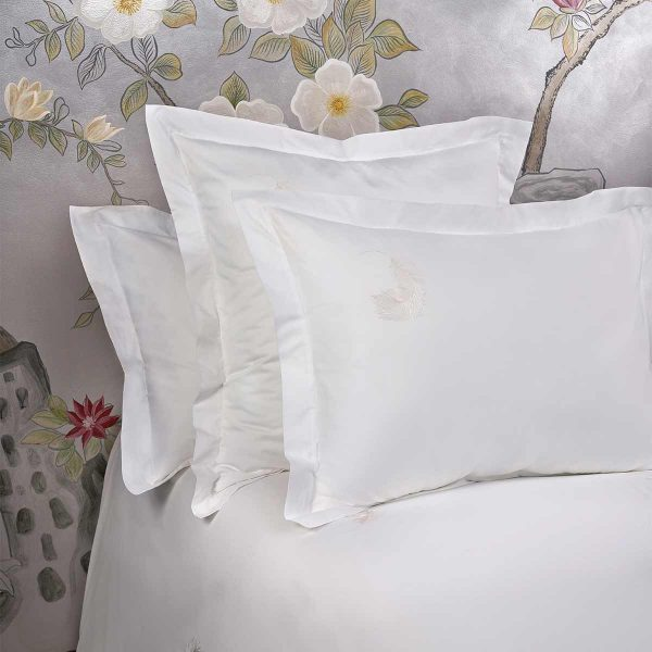 feather pillow sham white