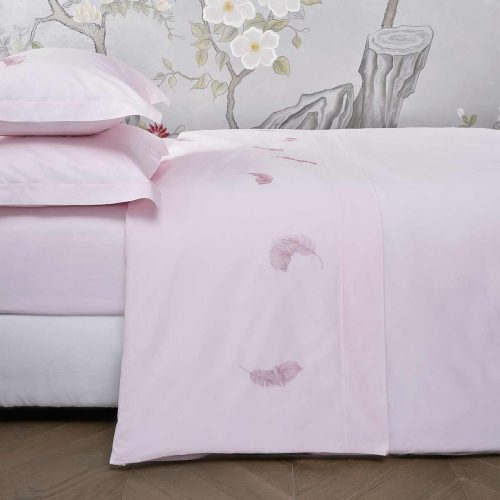 feather top sheet paradise pink