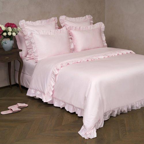 pink cotton bed linen set