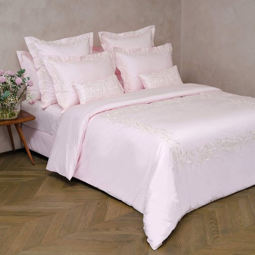 pink cotton bed linen set