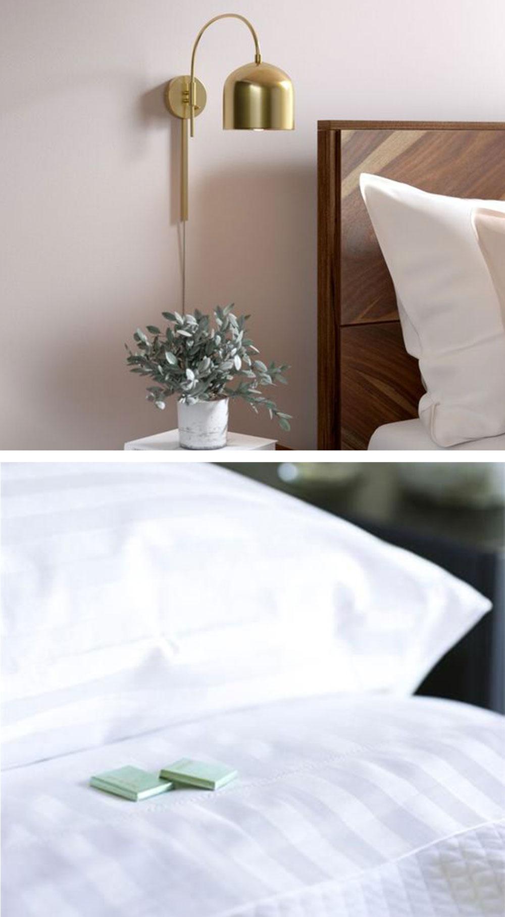 Tự Tạo Ra Không Gian Phòng Ngủ Y Như Khách Sạn Cao Cấp Khi Bạn Không Tiện Đi Du Lịch