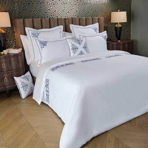 Aspen full bedding set white