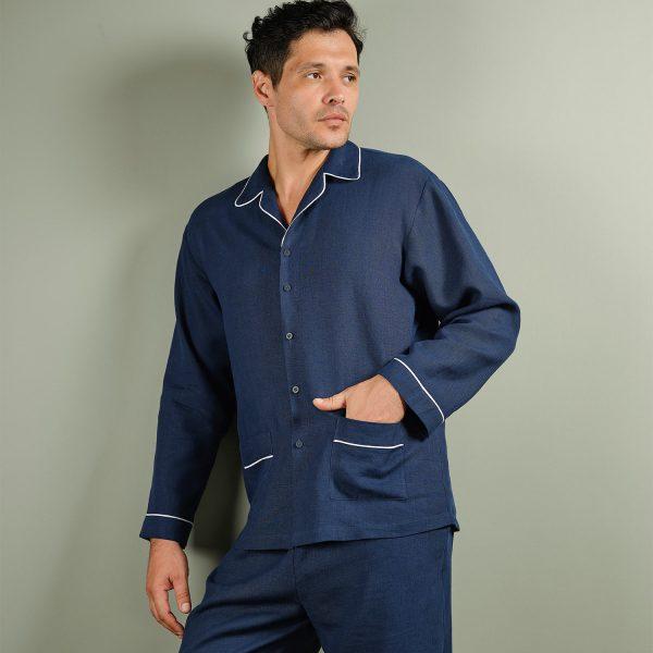 men linen pyjama set