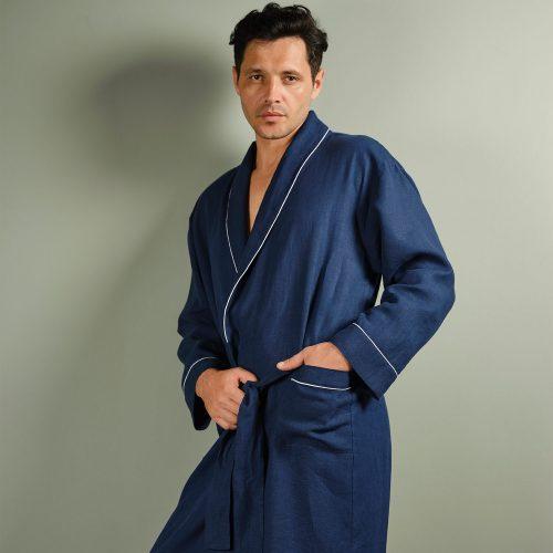 men linen robe