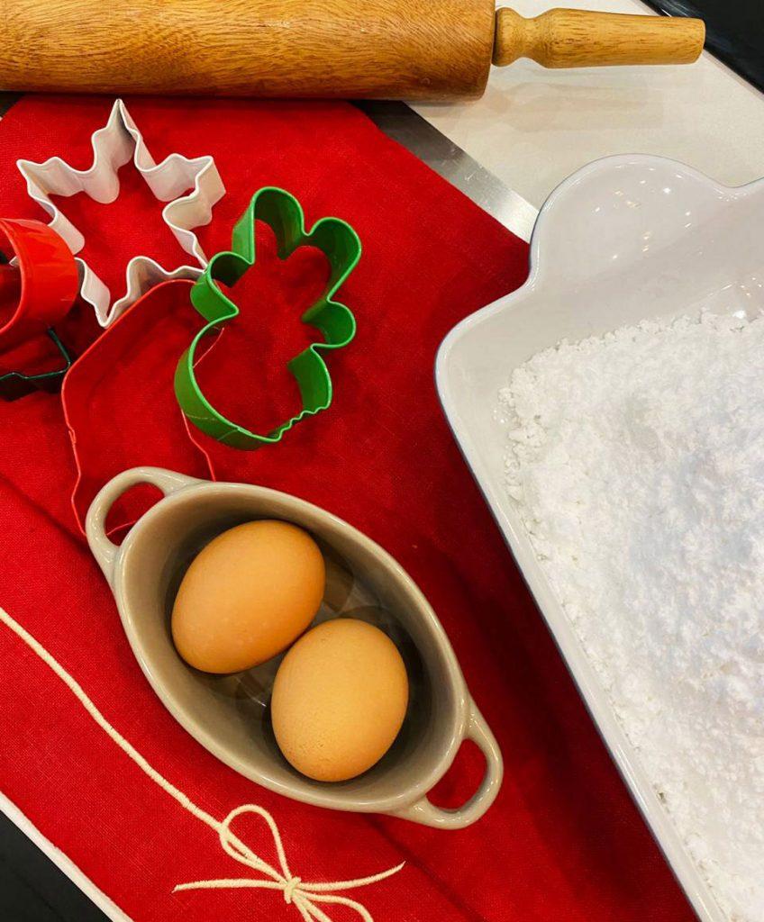 Christmas cookie recipe ingredients