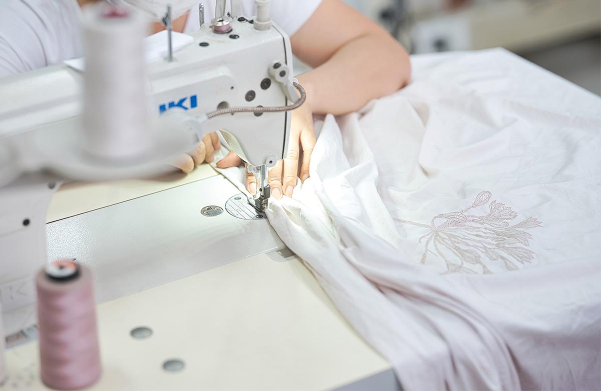artisan made bed linen