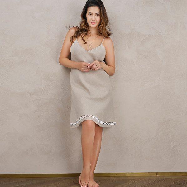 natural linen nightdress