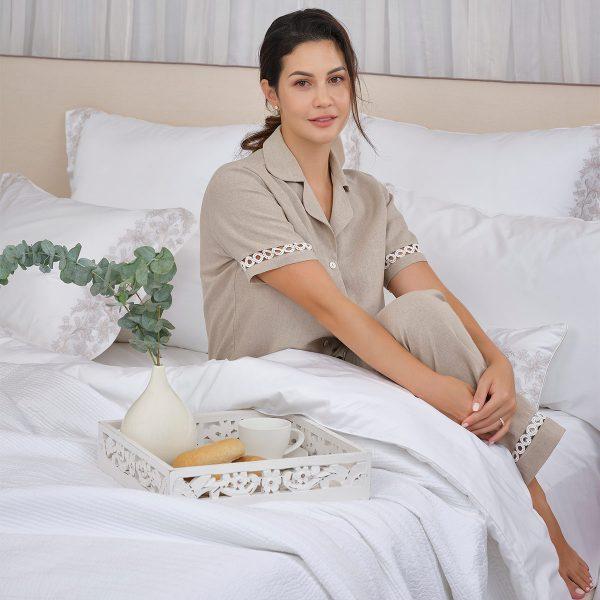 natural pyjama top