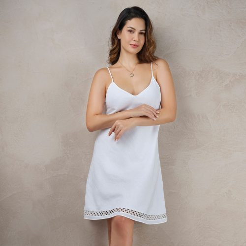 white linen nightdress