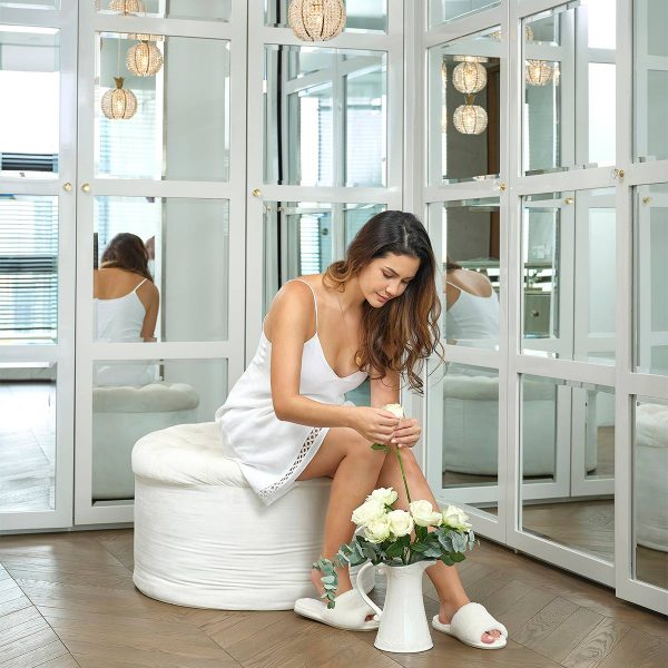 white nightdress linen