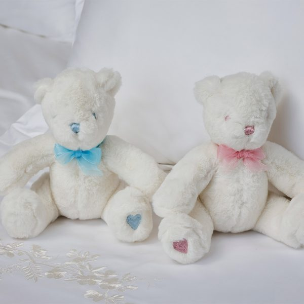 polar bear plush toy duo