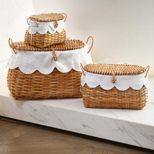 Rattan Baskets trio