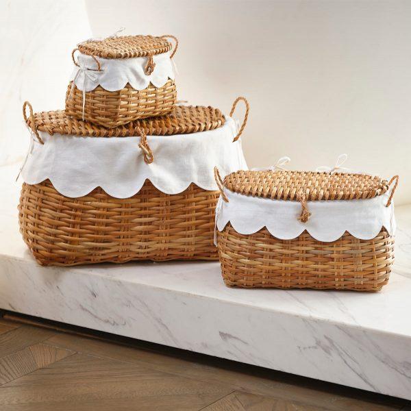 Rattan Baskets trio