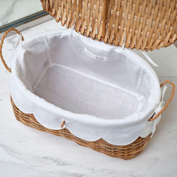 rattan basket inside