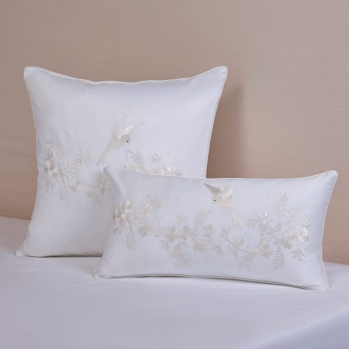 Whisper white cushion cover