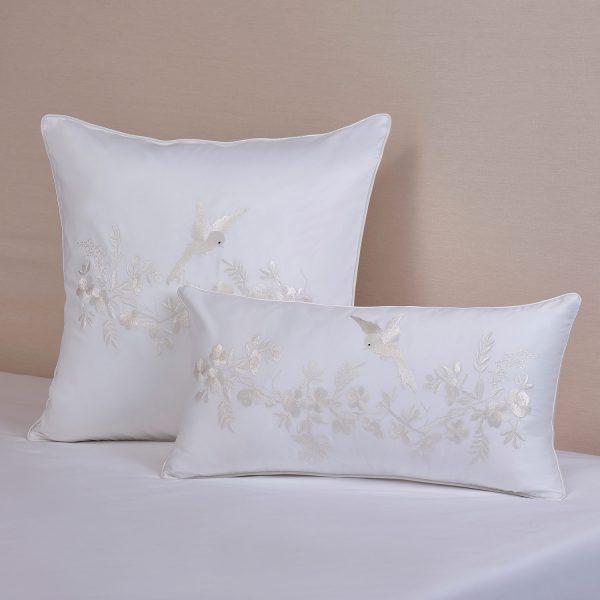 Whisper white cushion cover