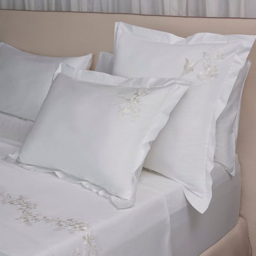 Whisper white pillow shams