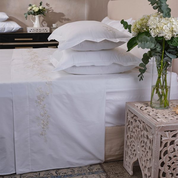 whisper white cotton top sheet