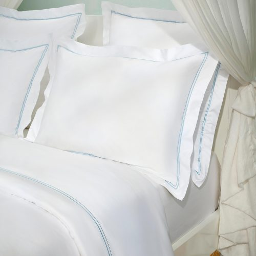 isla aqua pillow shams